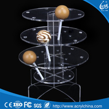 Clear acrylic dessert cake display stand topper XW-303
