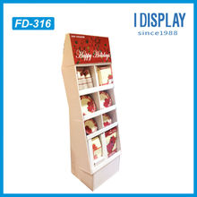 Unique store display point of purchase cardboard display rack for kitchenware