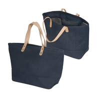 reusable jute shopping bag with zipper custom stant up zipper bag with leather handle