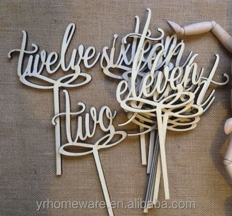 Laser cut wooden cake topper, wedding cake topper