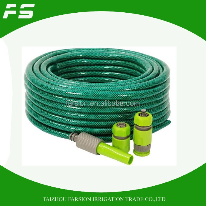 Top Selling PVC High Pressure Car Washing Water Hose Pipe With Adjustable Nozzle
