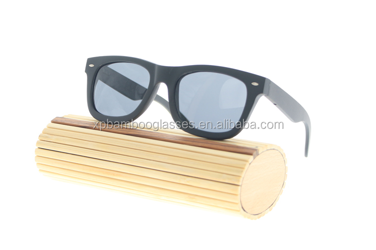 Hand Polished China Vintage Bamboo Frame Beach Sunglasses With Customer Logo