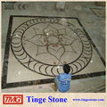 Big design of floor decoration with medallion