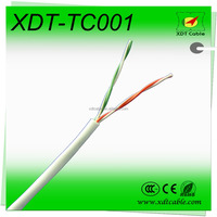 outdoor self supporting aerial drop wire copper conductor telephone cable