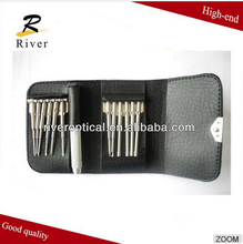 High quality eyeglasses leather repair kit / tool with screwdriver