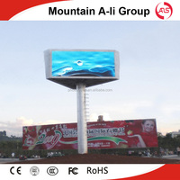 Working temperature -20---+50 RGB building wall LED outdoor billboards
