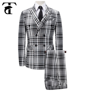 Custom Britain Design Plaids Wedding Tuxedo Men Western Formal Dress Suit Made In China