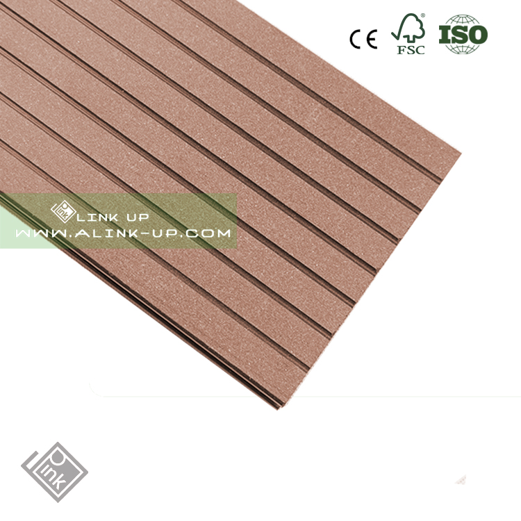 wpc crack-resistant decking/ wood plastic composite deck board / composite lumber