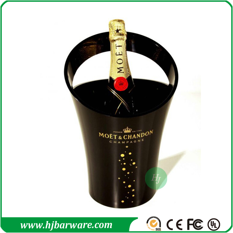 factory wholesale Moet Chandon plastic acrylic champagne ice bucket for promotion
