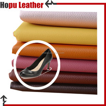 polyester coated pu faux leather fabric of shoes material
