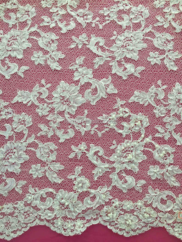 2017 Top One Wholesale Cord French Lace Chemical Lace Fabric
