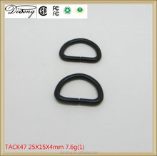 Bag parts metal open d ring,gunmetal metal bag hardware square ring