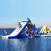 Newly design water game inflatable giant inflatable water slide for sale