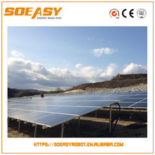 2017 High efficiency flexible solar panel for ground mounted solution with concrete base
