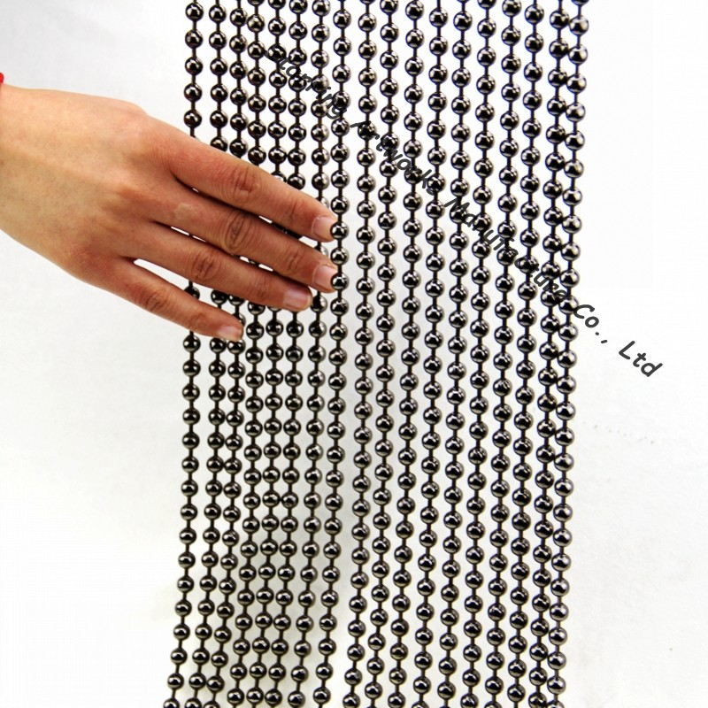 Luxury Metal Ball Chain String Beaded Curtain