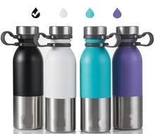 20oz Stainless Steel Insulated Water Bottle Leak Proof Vacuum Bottle with Handle, Double Wall Sports Thermos Flask for Hot Water