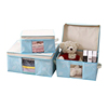 Home Storage 3 Sizes Kids Toy Bra Socks Storage Box Non Woven Fabric Collapsible Container Organiser Multicolor Available Blue