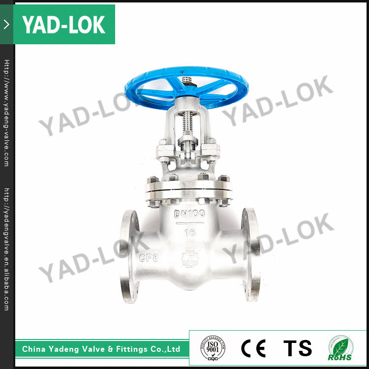 YAD-LOK General Industrial Equipment Cast Iron Metal Seated Stem Gate Valve