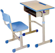 Single Set Metal Nursery Combo School Furniture Desk And Chair