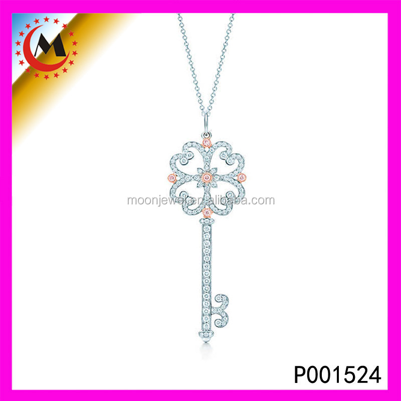 SIMPLE DESIGN KEY CHARMS FOR COUPLE ,EABY CHINA CHEAP SALE SILVER KEY PENDANT