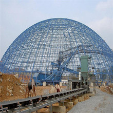 Industrial safety drawings used steel frame dome coal storage shed sale
