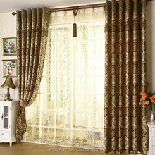 wholesale jacquard European style curtain floral printed living room curtain