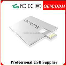 Business card customized usb flash drive for promotional gifts , Free sample