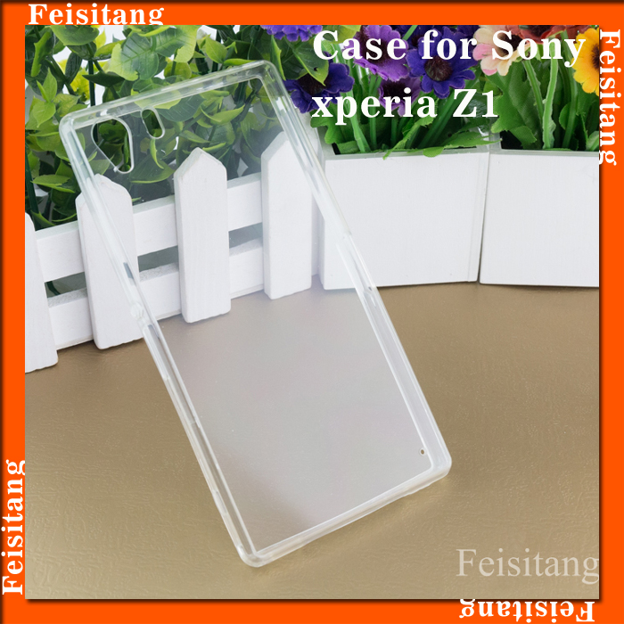Mobile phone back cover case for Sony Xperia z1 l39h Transparent back cover