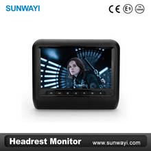 Factory price 9inch car back seat lcd monitor display headrest monitor