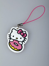 Personalized cheap promotional Customized cat shape Silicone loop Key chain