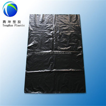 cheap drawstring garbage bag trash liner plastic black t-shirt bag