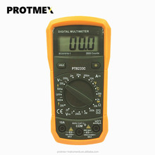 Best sell protmex pt8233c low price handheld manual ranging digital multimeter diode continuity temperature tester