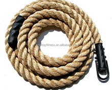 Gym Battle training Rope for Strength Exercise wooden color