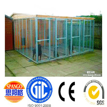 2015 popular heavy duty black dog kennels two doors large animal cage