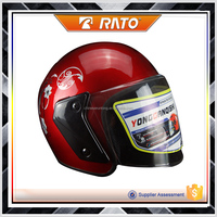 China popular hot sale half face red motorcycle helmet