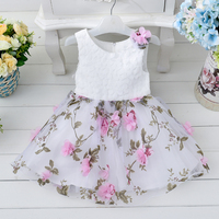 Hot Sale Girls Party Dress Summer Flower Baby Dress Toddle Children Clothing Free Shipping For 3-8 Years T264