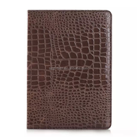 Crocodile PU wallet leather case for iPad air 2