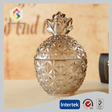 HOT Sale pineapple shape glass jar with lid