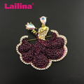 58mm Fashion Purple Bridal Crystal Rhinestone Dancer Dancing Couple Pin Brooch