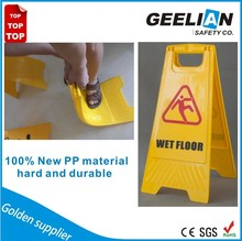 Large upright high quality traffic sign pvc wet floor warning board