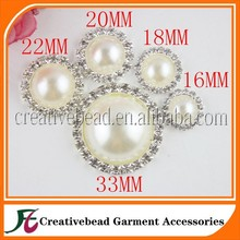 Small Pearl Brooch With Diamond Embellishment For Wedding Invitations