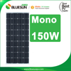 China made high efficiency mono150w import solar panels
