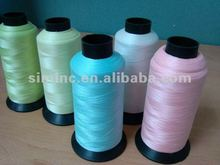 Popular luminous thread, moonglow thread, night glow in dark embroidery thread, fluorescent embroidery thread