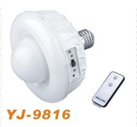 YAJIA Brand E27 led rechargeable emergency bulb with AC/DC and remote control YJ-9816