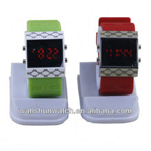 hot sale Silicone Sport watch Mirror LED Watch
