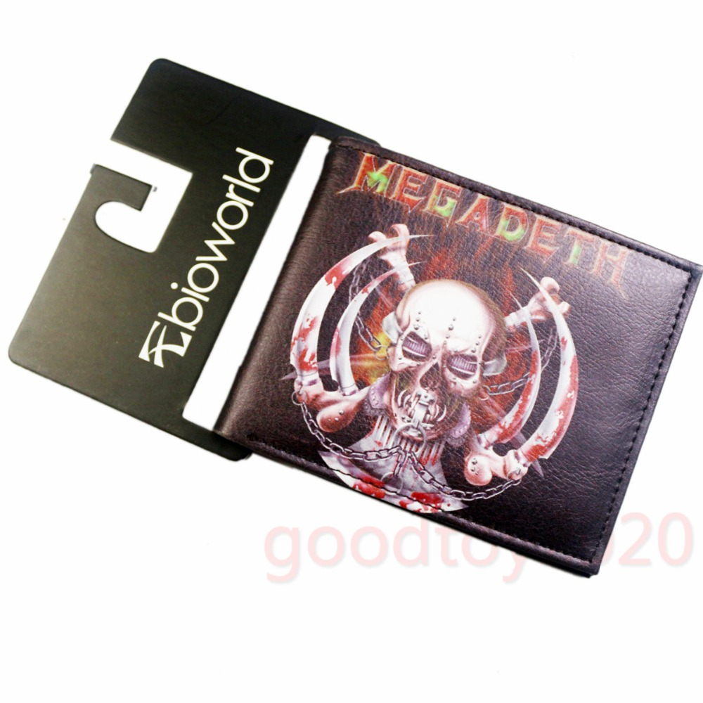 Music Band Thrash Metal Megadeth Skull Logo Wallets Purse