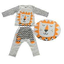 Wholesale Soft Breathable sleepwear sets baby animal printed kids cotton sleepwear