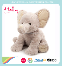 SEDEX best selling PP Cotton Filling Soft Stuffed elephant plush toy wholesale
