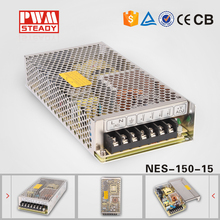 NES-150-15 15vdc long life and high reliability single output ac to dc 150w 15v 10a power supply