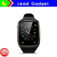 Dual Core Intelligent watch Leather band smart watch With Bluetooth Sync SMS Music Sync Calling for Smartphone